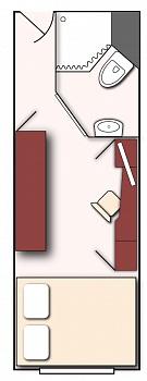 Kabinenplan Standard-Kabine MS Rostropovich