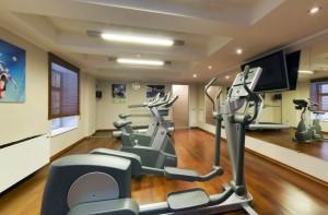 Fitnessraum im Hotel Radisson Royal