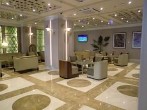 Lobby und Bar im Hotel Crowne Plaza St. Petersburg Ligovsky