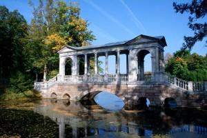 Malerischer Katharinen-Park in Puschkin