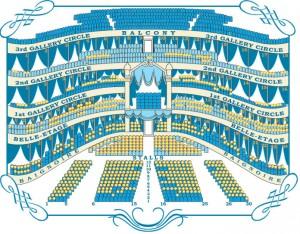 Saalplan im Mariinsky-Theater