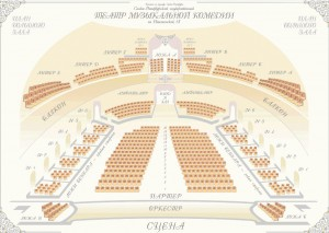 Saalplan im Palast-Theater