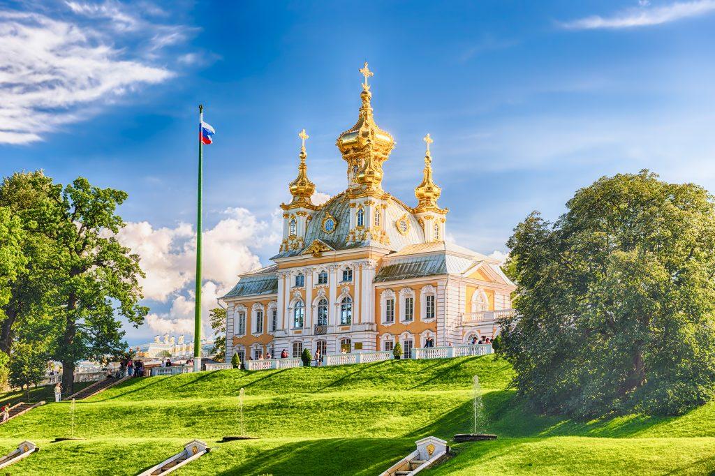 Peterhof in St. Petersburg: Palastkirche