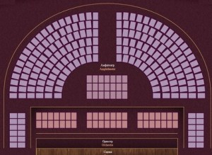 Saalplan im Eremitage-Theater