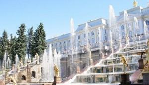 Wasserspiele in Peterhof.