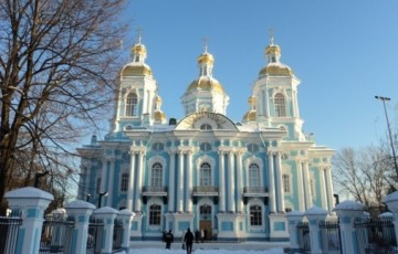 Nikolaus-Marine-Kathedrale in St. Petersburg