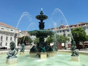 Rossio-Bronzespringbrunnen