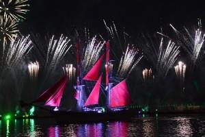 Die Feier der roten Segel in St. Petersburg