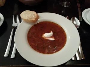 Essen in St. Petersburg - Suppe