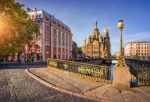 Weiße Nächte in St. Petersburg: Erlöserkirche