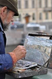 Kunden fotografieren: Straßenkünstler