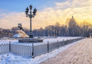 Der Eherne Reiter in St. Petersburg, Sankt Petersburg Reise