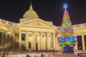 Silvester in St. Petersburg: Kasaner Kathedrale