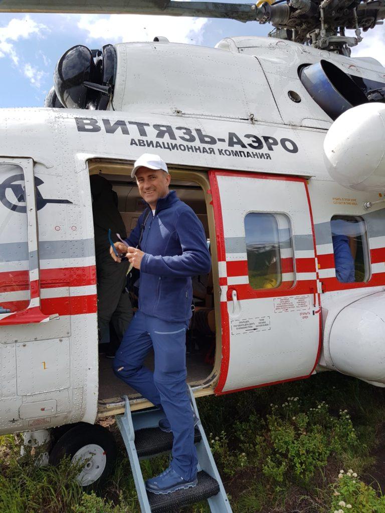 Alexander Kudriavtsev Helikopterflug auf Kamtschatka